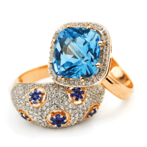 Baby Blue Ruby Ring Jewelry